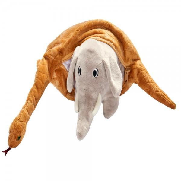 "Plüschtier ""Elefant in Schlange"""